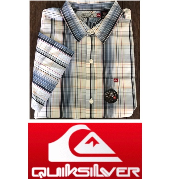 Quiksilver Other - NWT Quicksilver Button Front Slim-fit Shirt